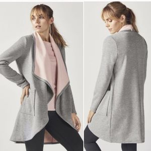 Fabletics Moscow Coat In Gray and Pink Sz XL